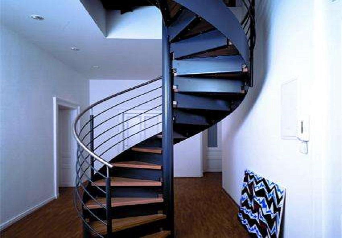 钢架旋转楼梯加固