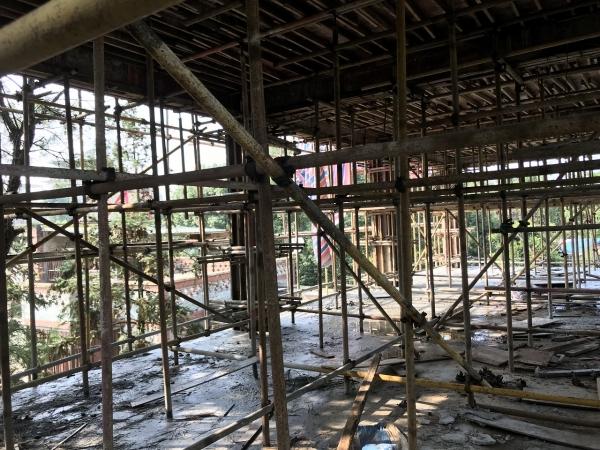 茶园别墅土建工程架设